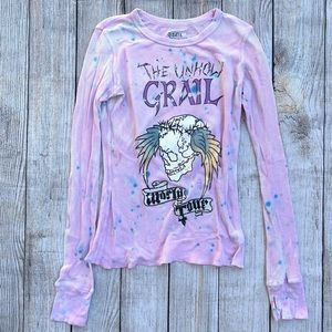 Grail Unholy Grail Skull Thermal Graphic Tour Tee